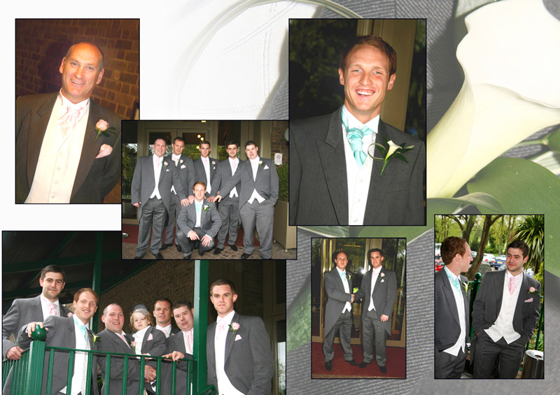 The Groom, family and friends